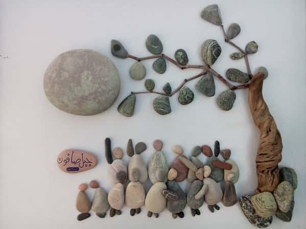 Kunstwerken maken met stenen