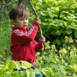 Kinderen in de tuin