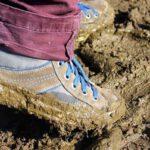 modderschoenen tijdens Modderdag