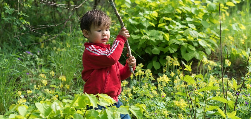 Kinderen houden van een wilde tuin