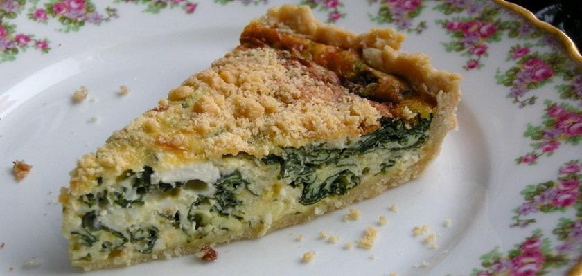 Vegetarisch recept spinazietaart