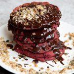 vegetarisch recept rode bieten pannenkoeken