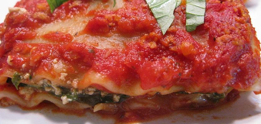 Vegan lasagne is ook erg lekker