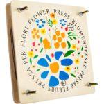 Houten bloemenpers als sinterklaascadeautje, kerstcadeautje of verjaardagscadeautje